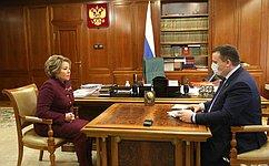 Председатель СФ обсудила сгубернатором Новгородской области вопросы экономического развития региона
