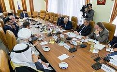 Сенаторы провели встречу счленами группы «Россия– исламский мир»