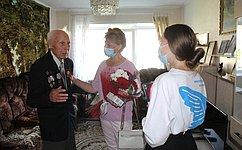 Т. Гигель встретилась светеранами Великой Отечественной войны вРеспублике Алтай