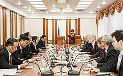 Российские сенаторы обсудили спредставителями Народного политического консультативного совета Китая торгово-экономическое, межрегиональное икультурное сотрудничество