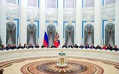 Президент РФ провел встречу сруководством Совета Федерации иГосударственной Думы