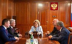 В.Матвиенко иА.Усс обсудили перспективы социально-экономического развития Красноярского края