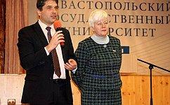 О.Тимофеева открыла работу «Сенаторского клуба» вСевастополе