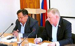 Вячеслав Наговицын встретился спредставителями муниципалитетов отдаленного района Бурятии