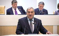 В.Штыров рассказал сенаторам освоей работе вкачестве представителя СФ вгосударственных органах повопросам развития Дальнего Востока, Восточной Сибири иАрктики
