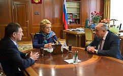 Председатель СФ В.Матвиенко провела встречу сруководством Удмуртской Республики
