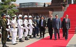 Начался официальный визит делегации Совета Федерации вКоролевство Камбоджа