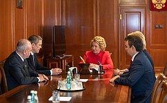 В.Матвиенко провела встречу сруководителями Республики Башкортостан