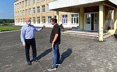О. Цепкин проинспектировал учебные учреждения Саткинского района Челябинской области