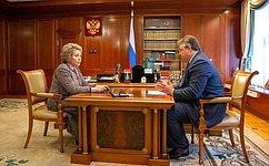 Председатель Совета Федерации обсудила сгубернатором Ставрополья вопросы социально-экономического развития региона