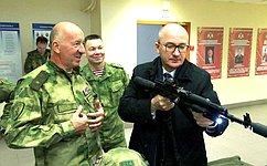 О. Цепкин посетил Управление Росгвардии поЧелябинской области