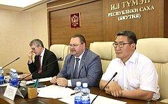 О. Мельниченко: Насовещаниях вЯкутске обсуждались актуальные вопросы социально-экономического развития Республики Саха