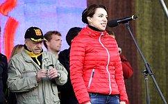 Ю.Вепринцева приняла участие ввоенно-патриотическом ифизкультурно-спортивном проекте «Гонка Героев» вТуле