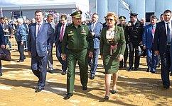 В.Матвиенко приняла участие воткрытии Международного военно-технического форума «Армия–2016»