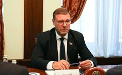 К. Косачев: Российские парламентарии внимательно следят заразвитием ситуации вокруг Приднестровья