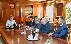 Спикер СФ игубернатор Тульской области обсудили перспективы социально-экономического развития региона