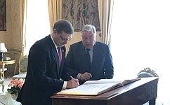 Делегация Совета Федерации встретилась сПредседателем Сената ФранцииЖ.Ларше