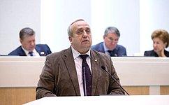 Ф.Клинцевич: Тесное взаимодействие Министерства обороны РФ изаконодателей уже стало системой