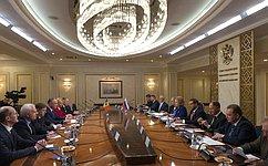 Председатель СФ В.Матвиенко провела встречу сПрезидентом Республики Молдова И.Додоном