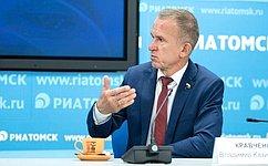 В. Кравченко рассказал обисполнении Постановления СФ поитогам Дней Томской области, атакже оподдержке малого исреднего бизнеса