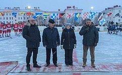 Ю. Воробьев принял участие вмероприятии, посвященном всероссийскому Дню хоккея
