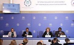 В.Матвиенко: Высокий интерес к137-й Ассамблее МПС– признание растущей роли международного парламентаризма