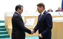 Андрею Шевченко объявлена Благодарность Председателя Совета Федерации