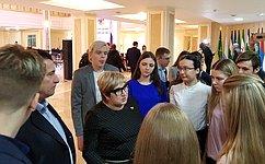 О. Хохлова: Важно, чтобы молодежь активнее участвовала вобсуждении ирешении актуальных задач развития страны