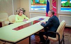 В.Матвиенко приняла предложение А.Беглова стать кандидатом вчлены Совета Федерации отисполнительной власти Санкт-Петербурга
