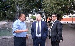 В.Лаптев проинспектировал объекты городской исоциальной инфраструктуры города Куйбышева