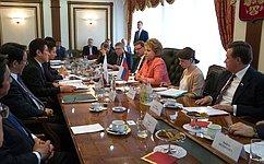 В.Матвиенко: ВСовете Федерации удовлетворены динамикой развития российско-японских межпарламентских связей