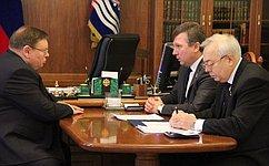 Сенаторы отИвановской области обсудили сглавой региона меры поподдержке экономики субъекта