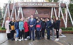 Александр Пронюшкин смуромскими школьниками посетил парк «Патриот»