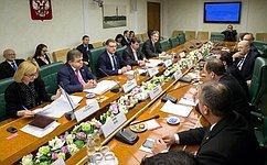 Председатель Комитета СФ помеждународным делам К.Косачев встретился сделегацией Кнессета Государства Израиль