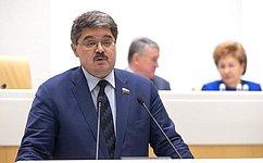 А.Широков сообщил освоей работе вкачестве представителя СФ вгосударственных органах повопросам развития Дальнего Востока, Восточной Сибири иАрктики