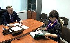 Сенатору В. Николаеву выразил благодарность ветеран спорта Чувашии