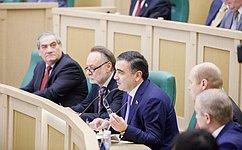 На«парламентской разминке» сенаторы сообщили оросте рейтинга верхней палаты иобсудили итоги визита делегации Совета Федерации вСирию, Ливан иИорданию