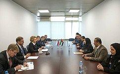 ВБелграде состоялась встреча Председателя СФ В.Матвиенко сПредседателем Федерального национального совета ОАЭ Амаль Аль-Кубейси