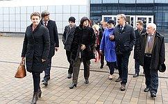 Е. Афанасьева совместно сдепутатами Комиссии Парламентского собрания Союзного государства посетила «Минск-Арену»