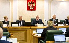Состоялось расширенное заседание Комитета СФ поконституционному законодательству игосударственному строительству