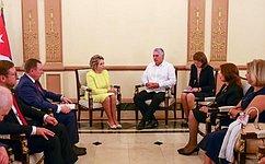 Состоялась встреча Председателя СФ иПрезидента Республики Куба