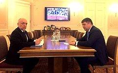 Д.Василенко встретился сгенеральным директором Президентской библиотеки А.Вершининым