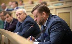 Входе «парламентской разминки» сенаторы обсудили региональную проблематику