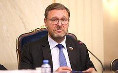 Konstantin Kosachev holds talks with Secretary General oftheInter-Parliamentary Union Martin Chungong