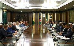 Состоялась беседа Председателя СФ иПрезидента Республики Намибия