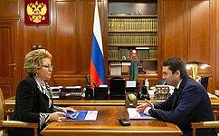 Председатель Совета Федерации провела рабочую встречу сгубернатором Мурманской области А.Чибисом