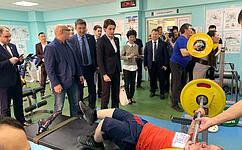 Татьяна Лебедева посетила Республиканский центр адаптивной физической культуры испорта вЯкутске