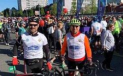 В.Харлов: Цель велофестиваля— развитие велосипедной культуры вкаждом регионе нашей страны, продвижение ценностей здорового образа жизни