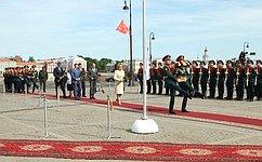 В.Матвиенко приняла участие вмероприятиях, посвященных 315-летию содня основания Санкт-Петербурга