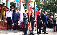 С. Михайлов поздравил учеников нерчинской школы сДнем знаний